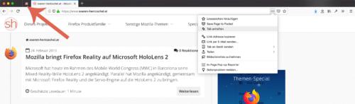 Tabs anheften in Firefox 67