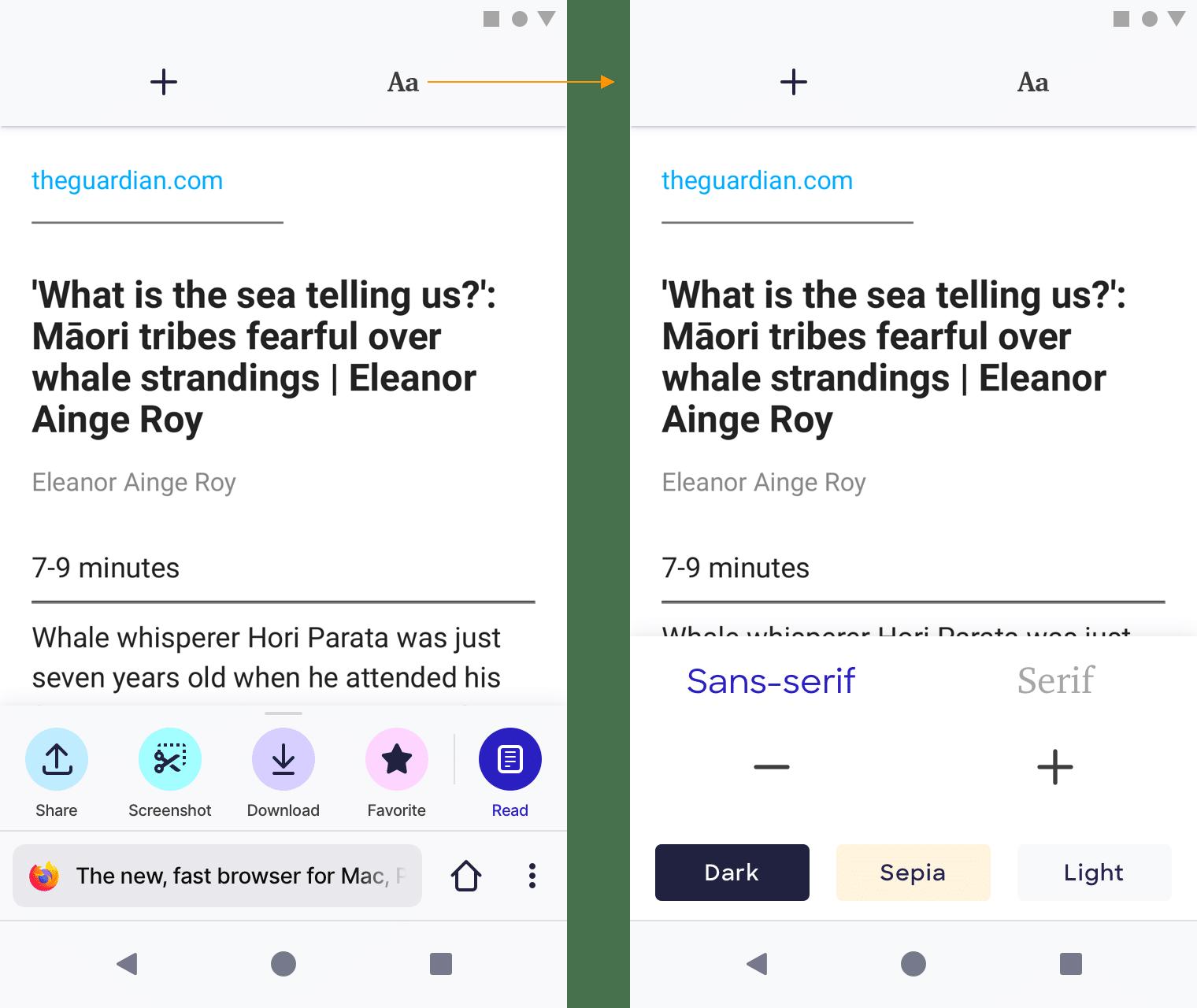 Die ersten Bilder von Mozillas neuem Fenix-Browser, Teil 3