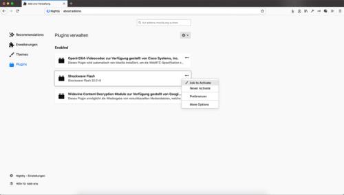 Adobe Flash Player Firefox 69