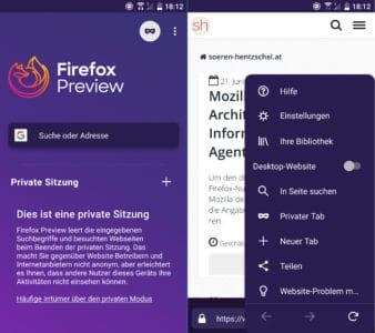 Firefox Preview 1.0 (Fenix)