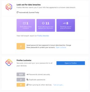 Firefox Privatsphäre-Offensive