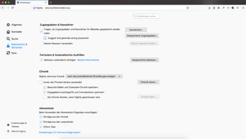 Passwort-Generator Firefox 69