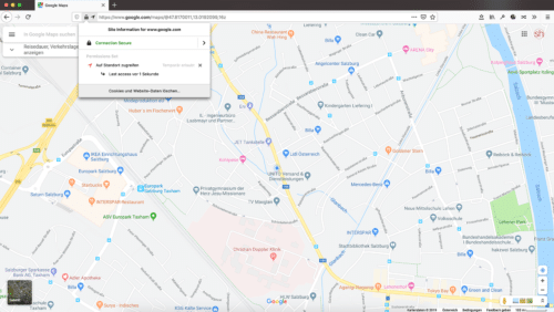 Geolocation in Firefox 70
