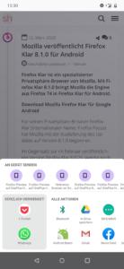 Firefox Preview 4.0: Teilen von Seiten