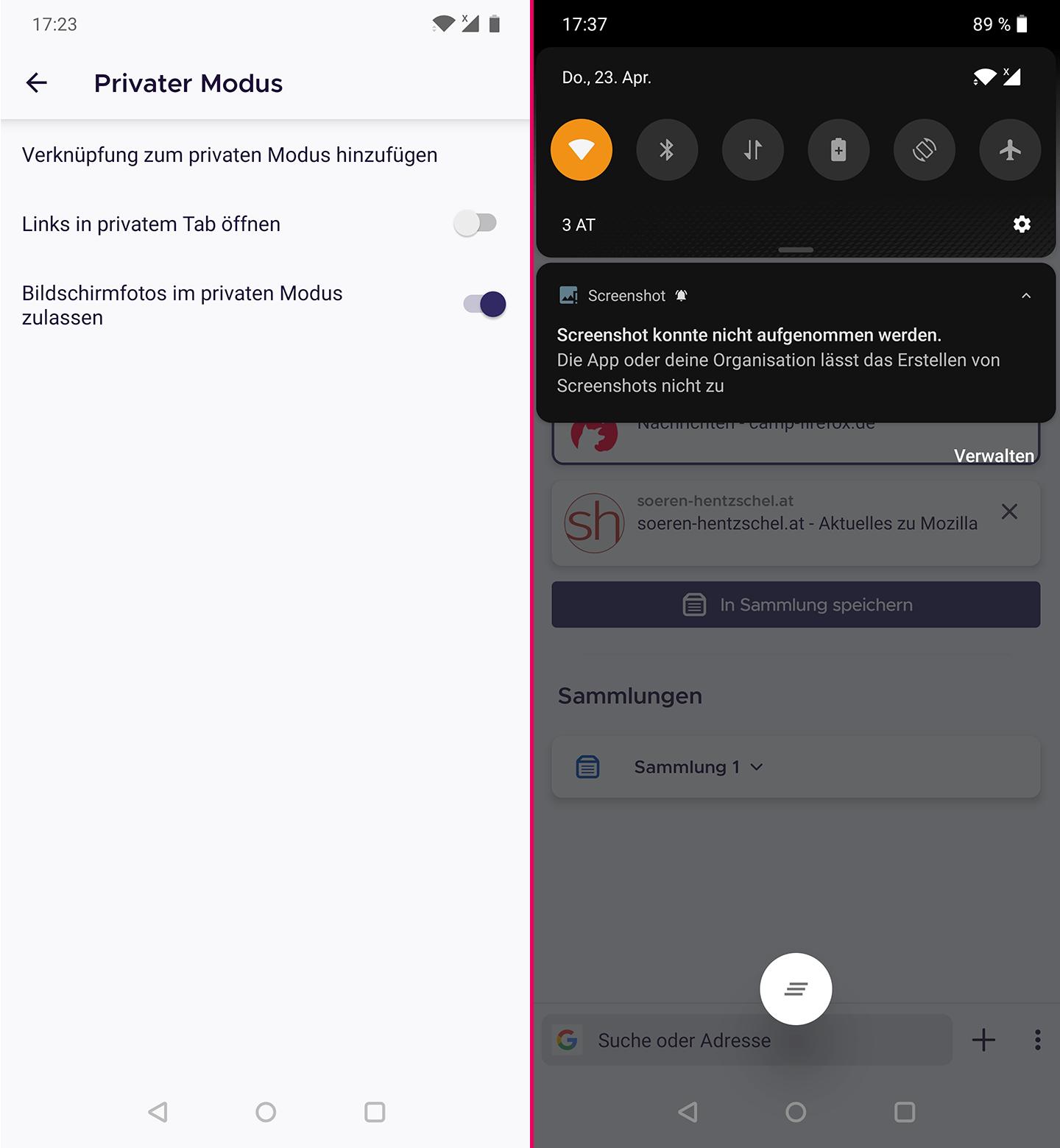 Firefox öffnet Keine Seiten
