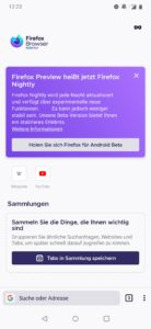 Firefox Nightly für Android