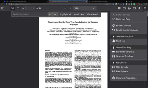 Neues Design PDF-Betrachter Firefox