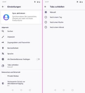 Firefox 81 für Android