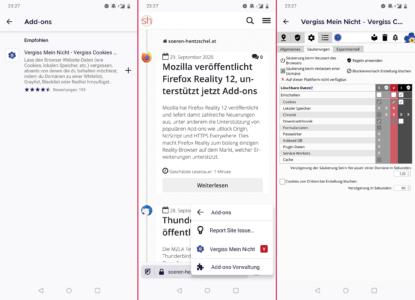 Firefox für Android: Eigene Erweiterungen