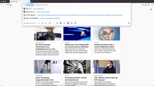 Adressleiste Einstellungen Firefox 85