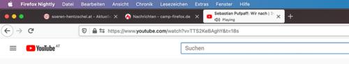 Proton Tabs in Firefox Nightly