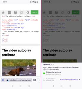 Autoplay-Blocker Firefox 86 für Android