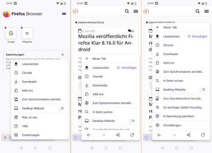 Firefox 89 für Android