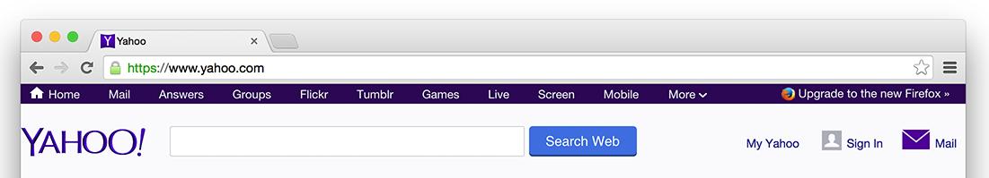 Yahoo Browserempfehlung